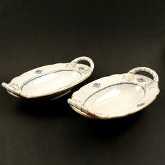 Rosenthal-2 Porcelain serving dishes-model Ph. Rosenthal.