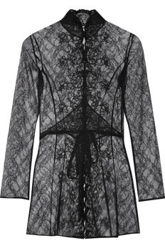 Agent Provocateur Laretta Embroidered Lace Robe