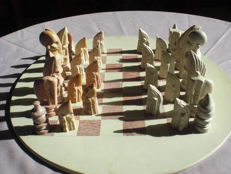African chess set made of Kisii stone