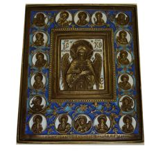 Large traditional Russian Orthodox Icon of Saint Michael the Bless Silence