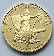 United States - 5 dollars 2011 'medal of honour' - gold