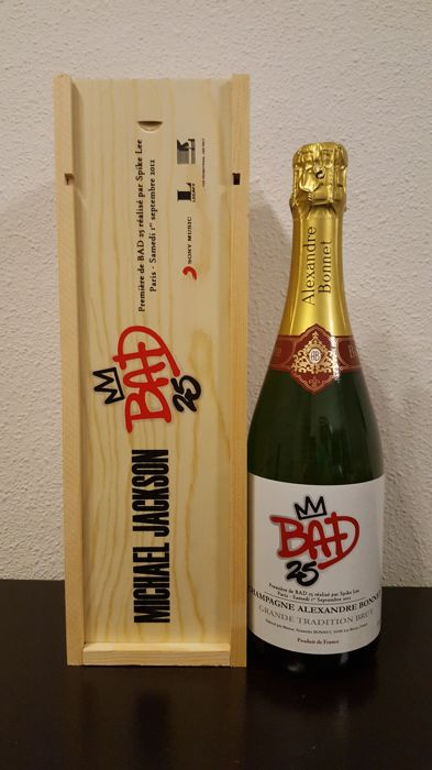 "Michael Jackson Ultra Rare Champagne Promotional  ""Bad25 Documentary"" By Spike Lee Premier Paris, September 1, 2012"