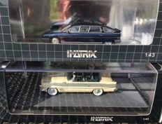 Matrix Scale Models - Scale 1/43 - Chrysler dual ghia convertible 1957 & Citroën CX Prestige Tissier Limousine - DDR Eric Honecker 1986