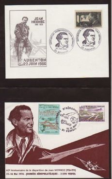 USA and France 1965/1989 - Album with more than 100 items related to aviation.