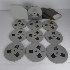 9 full and 1 empty metal coated reel(s)