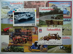 "1969 - 1989 - ""L'AUTOMOBILISTE"" - ""La revue de l'amateur"" - lot of 13 old car & old car racing magazines in french language"