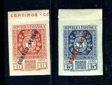 Spain – 1940 – Philatelic Exhibition of Airmail in Madrid – Edifil 729/730