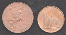 """Germany - Medal """"Dom Koln 1880"""" and the Netherlands ¨Fishing and horse exhibition 1892¨"""