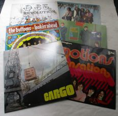 A lot 6 lp's 2 lp's of the Motions , 1 lp of Q65, 1 lp of Cosmic Dealer, 1lp of Cargo and 1 lp of  The Buffoons