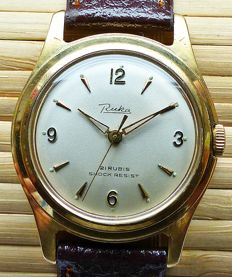 RUKA 21 rubies -- men's wristwatch from the 60s -- very rare collector's item