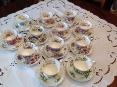 Very rare and invaluable tea set Royal Albert Flower series of the month