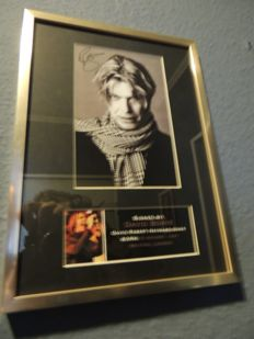 Stunning David Bowie 2016  - Memorial Signed (in print)Picture Framed