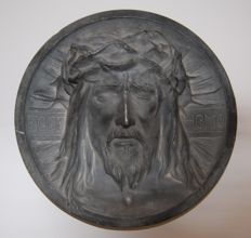 Wall plaque, Jesus ECCO HOMO cast iron Germany ca. 1900