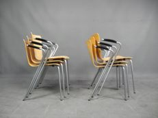 Vico Magistretti voor Fritz Hansen - Set van 6 VicoDuo Dinner Chairs