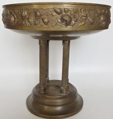 Brass Flower/Fruit bowl pedestal early 20th century