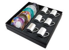 Damien Hirst - Boxed Set of 6 Anamorphic cups and saucers