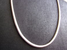 Sterling silver women's necklace, 925, length: 60 cm
