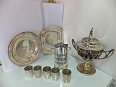 Lot of 9 Silver Plated pieces from the 19th and 20th centuries - All with marks