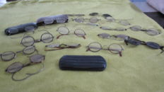 Lot of old glasses