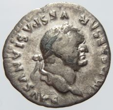 Roman Empire - Titus, AR Denarius (79-81 A.D.), Rome mint, Eagle on reverse