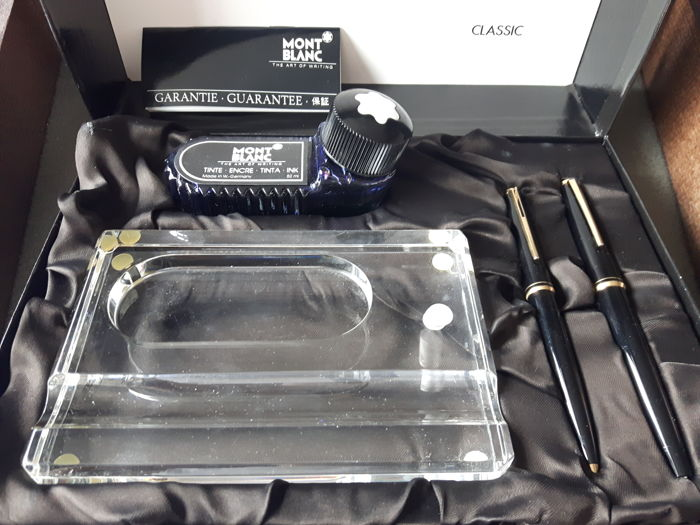 Unique Montblanc Desk Writing Set With Fountain Pen Ink