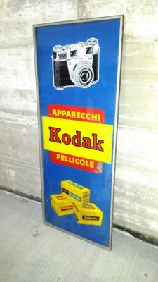 Sign on glass, Kodak, 1950s