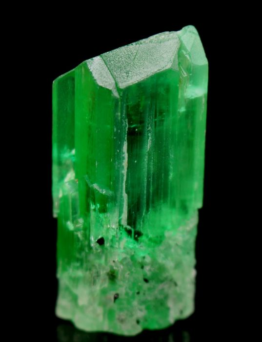 Terminated V-Shape Lush Green Transparent Kunzite Hiddenite Crystal - 46 x 19 x 11 mm - 30gm - 150 cts