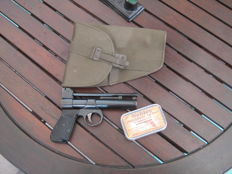 Webley Junior Mark I Air Gun with Holster and a pellet tin