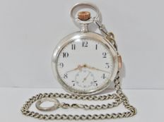 Quarter Repeater pocket watch with chain