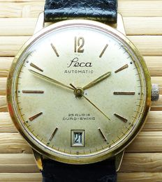 SECA AUTOMATIC Duro-Swing with date men's wristwatch from the 60s -- rare collector's item