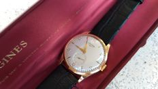 LONGINES Men's watch 1954 - 18k Rose Gold - with box - JUMBO! - COLLECTOR'S SET!