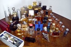 Collection of 45 perfume bottles