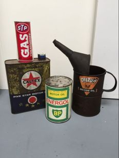 Oil can and jug