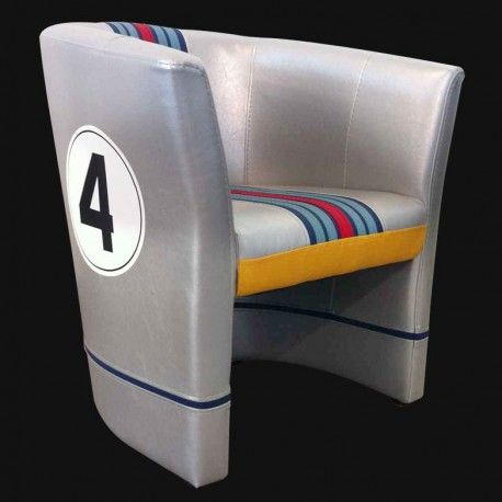 Martini theme club chair, Porsche 917 k, 24hrs Daytona 1971 No. 4