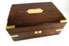 A Georgian brass mounted rosewood gentlemen's box - England - first quarter 19th century