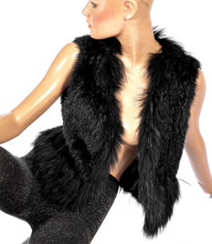 Milestone rabbit fur vest light rabbit fur genuine fur vest