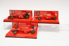 Minichamps - Scale 1/43 - Lot with 3 models: 3 x Ferrari F1 - Michael Schumacher