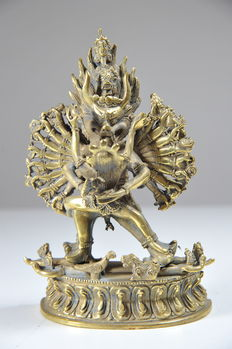 Statue of Yama and Yami -Tibet / Nepal - late 20th century