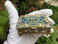 Stamp box in cloisonné - France - ca. 1880