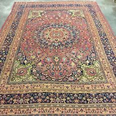 Collector's carpet!!  Antique hand-knotted Persian carpet - Mashhad, 365 x 260 cm, around 1930