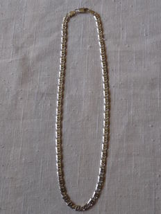 Unisex 925 Silver necklace  Weight: 19.78 g. Length: 46.5 cm.  Width: 5.30 mm.