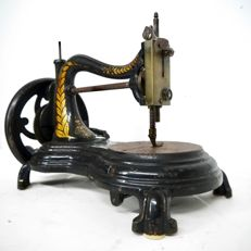 Hand sewing machine,  produced between 1879 and 1909. In working condition. England