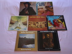 A Superb Lot Of 7 Jazz, Jazz/Progressive & Fusion Lp's: Gato Barbieri, Pat Metheny Group, Phil Miller, Dick Morrissey/Jim Mullen, John Surman & Grover Washington Jr.!