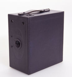 Ensign E29 Blue Wooden box camera from 1930