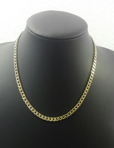 Silver curb link necklace, 925 kt. Length: 45 cm. Width: 0.5 cm. Weight: 23.6 g