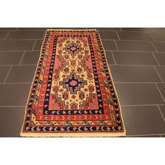 Collector's oriental carpet, Anatolia Yahali Kazakh pattern, 180 x 90 cm, antique rug, circa 1940