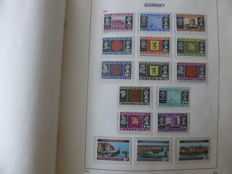 Guernsey 1958/1999 - with postage due, extra bridge pairs/blocks in Davo preprint album