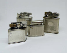 Collection of chromed metal lighters - Art Decó, early 20th century