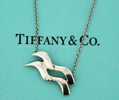 Tiffany & Co. - Design By Paloma Picasso - Vintage sterling silver necklace & pendant, ca.1995 - Length : 41 cm