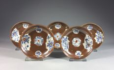 Set of five porcelain Capuchin Imari bowls - China - 2nd half 18th century